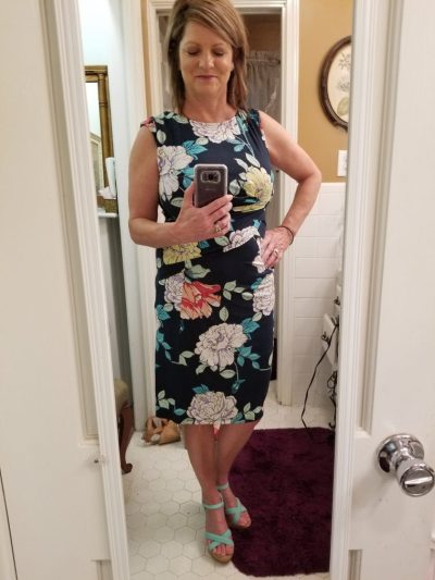 Stitch Fix -Kut From The Cloth Mollee Knit Dress turquoise shoes