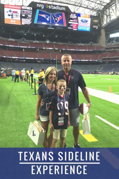 Texans Sideline Experience