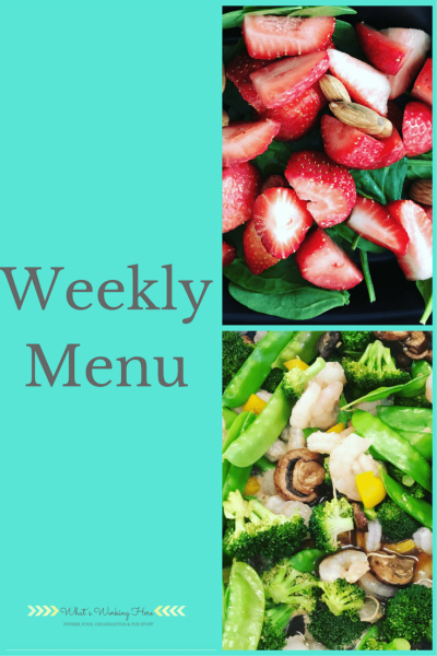 January 21st Weekly Menu - 80 Day Obsession Meal Plan B