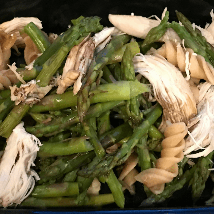 80 Day Obsession Snack Recipes- Chicken & Asparagus Pasta
