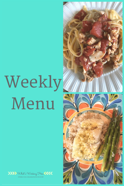 February 4th Weekly Menu - Meal Planning