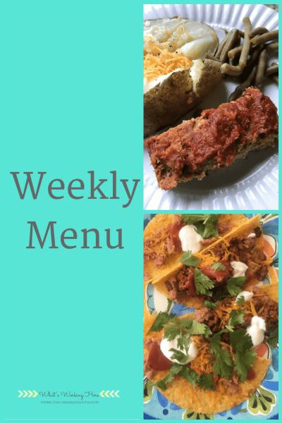May 20th Weekly Menu - Summer Snack Recipe