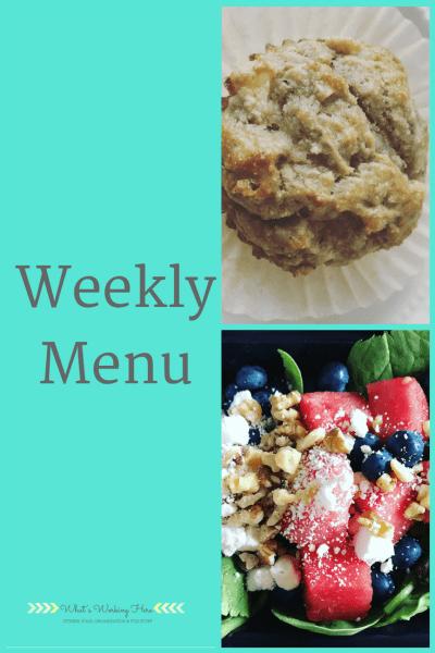 May 28th Weekly Menu - Clean Eating