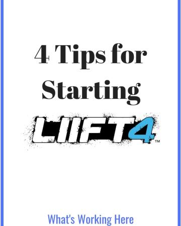 Top 4 tips for starting LIIFT4