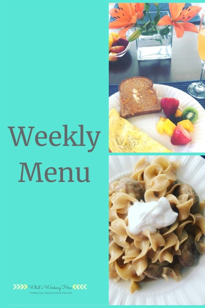 Dec 23rd Weekly Menu