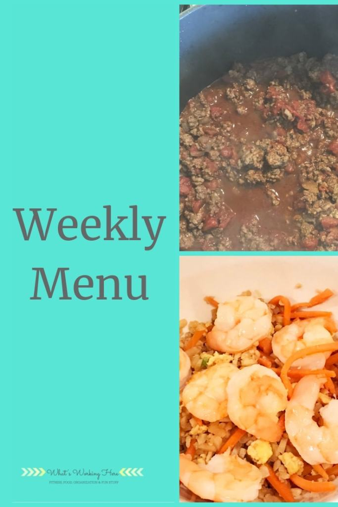 Jan 6th Weekly Menu
