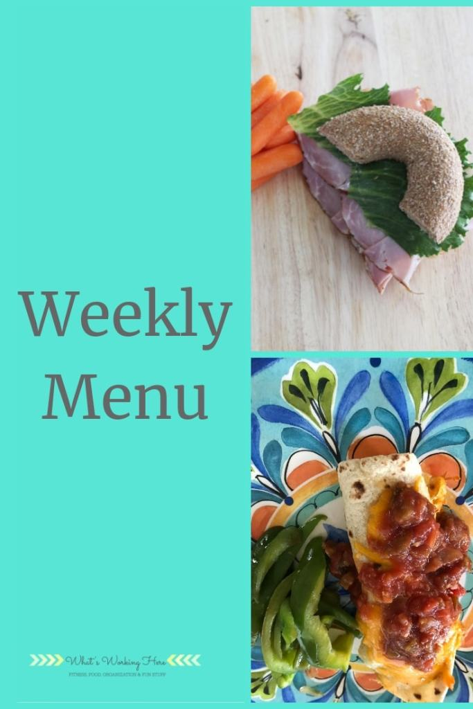 July 28th Menu - Meal Plan B Refeed Day - Bagel sandwich with carrots & Beef Burrito