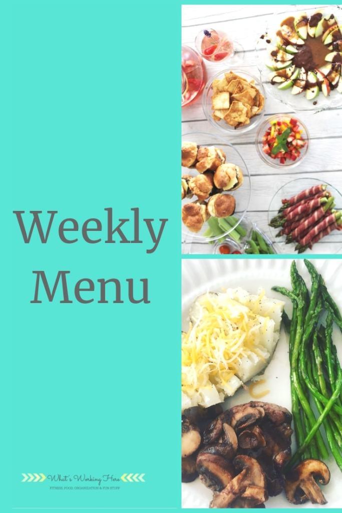 May 12 Weekly Menu - mother's day menu
