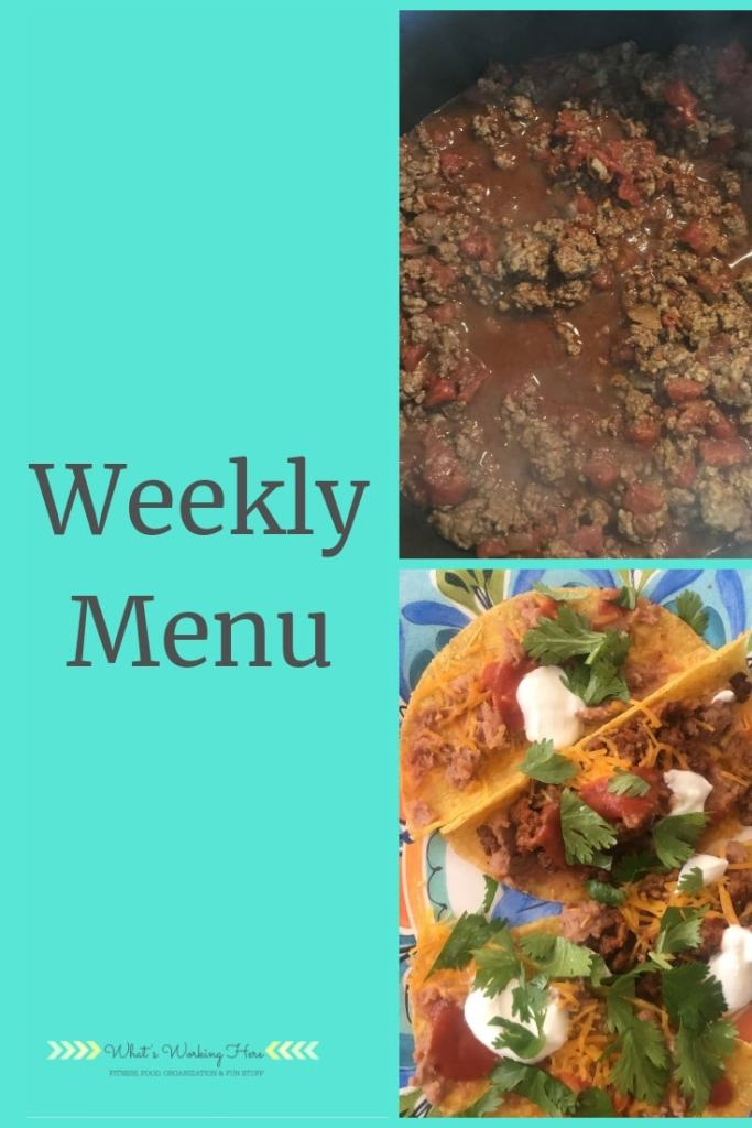 Nov 11th Weekly Menu - Meals Dads can make