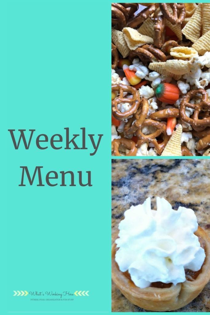 Nov 18th Weekly Menu - Thanksgiving menu