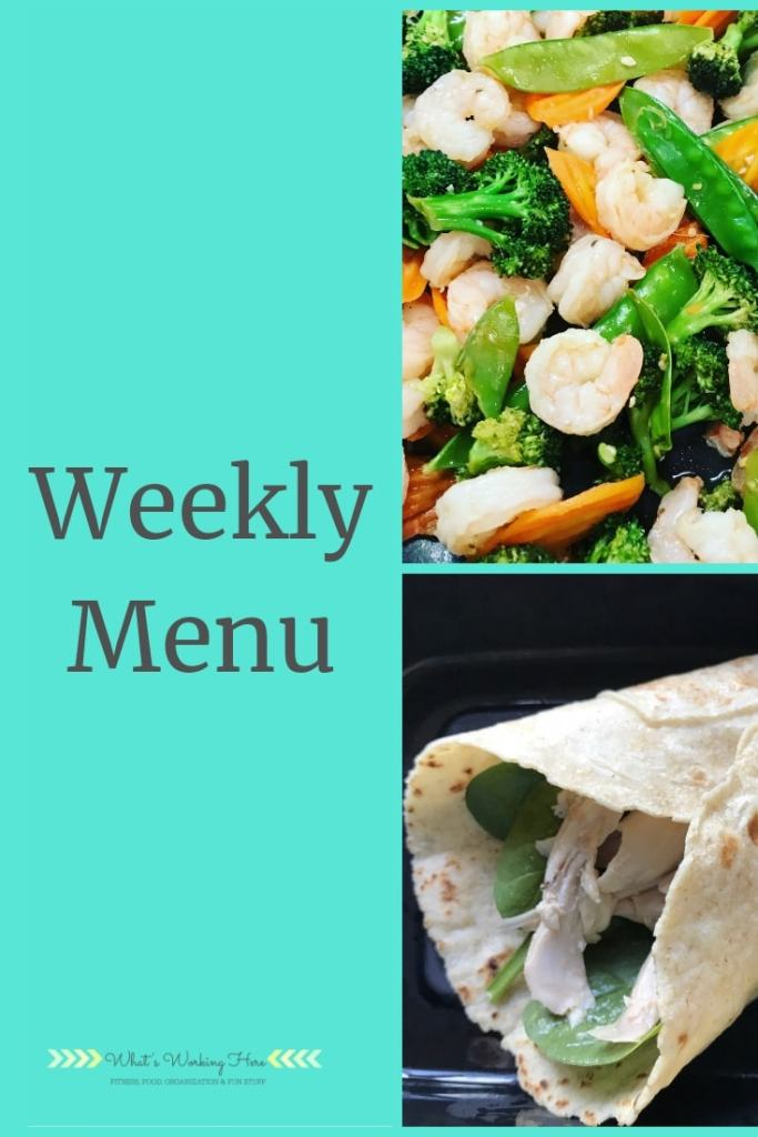 Oct 28th Weekly Menu - 21 Day Fix Countdown To Competiton