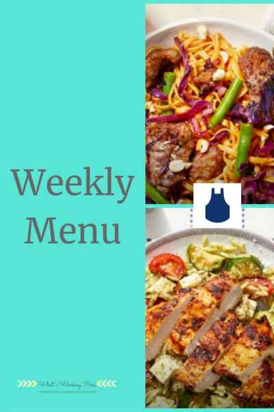 Sept 9 Weekly Menu - Cooking With Blue Apron