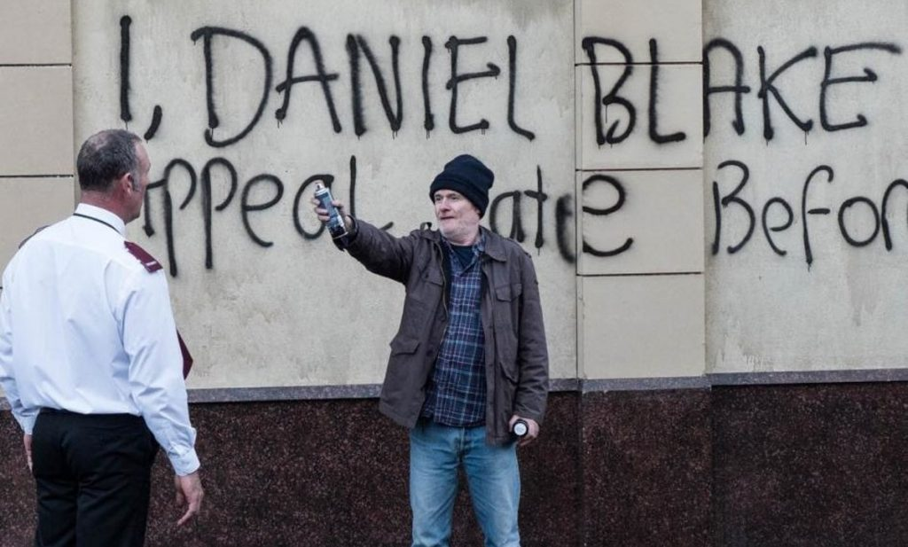 Image result for the graffiti on the wall in I daniel blake