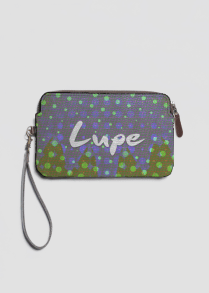 lupe leather clutch by Patricia Griffin