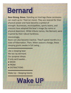 Bernard (sample wood poster)