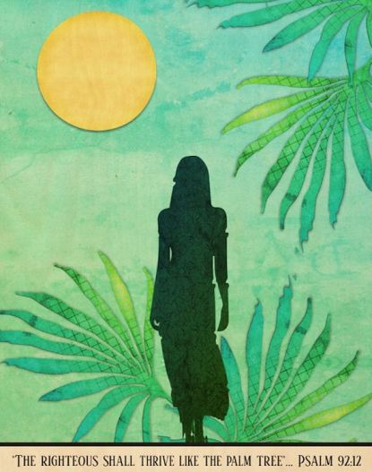 Inspirational Palm (Tammy) wood wall art