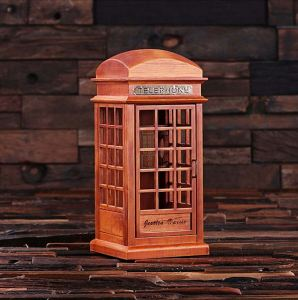Personalized Phone Booth Music Box