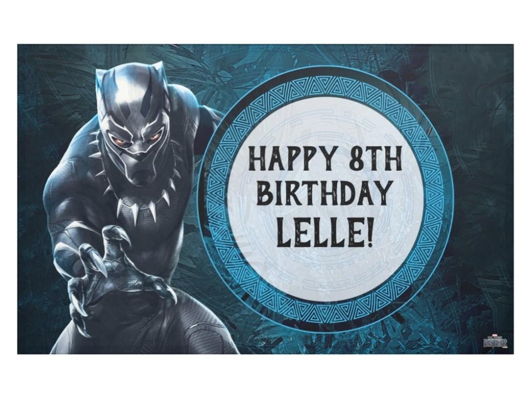Black Panther Birthday Banner