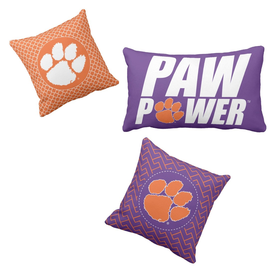 Clemson pillows