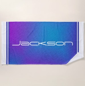 Personalized Beach Towel by Patricia Griffin