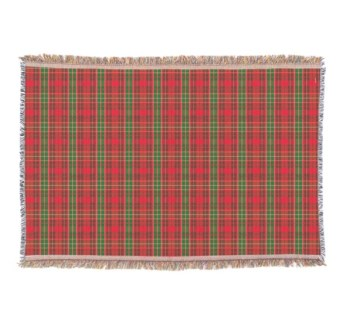 Hallmark Christmas plaid blanket
