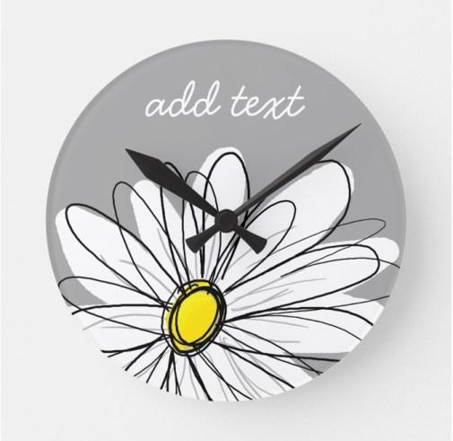 Associate Daisy Personalized Wall Clock