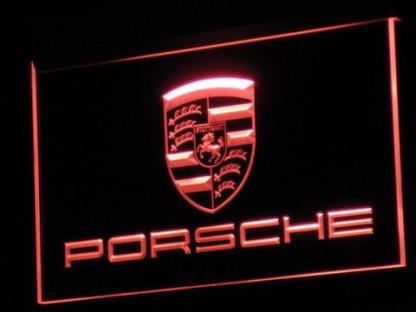 Porsche neon sign LED