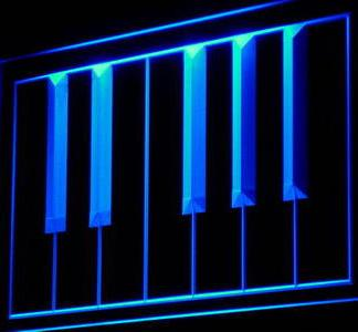 Piano keyboard neon sign LED