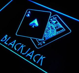 Blackjack neon sign LED
