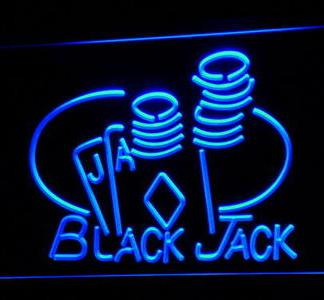 Blackjack Game Room neon sign LED