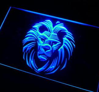 Lion neon sign LED