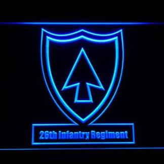 US Army 26th Infantry Regiment neon sign LED