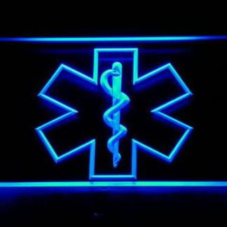 Emergency Medical Services Star of Life neon sign LED