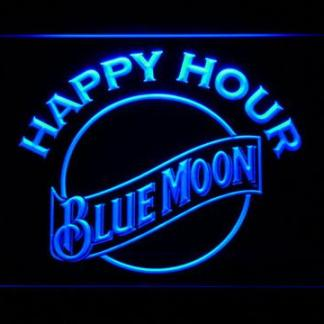 Blue Moon Happy Hour neon sign LED