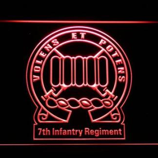 US Army 7th Infantry Regiment neon sign LED