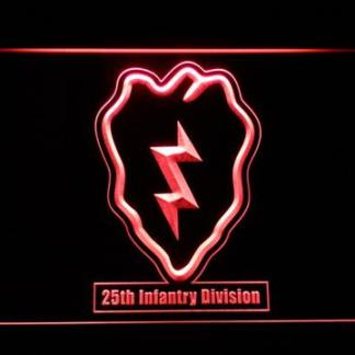 US Army 25th Infantry Division neon sign LED