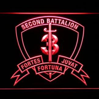 US Marine Corps 2nd Battalion 3rd Marines neon sign LED