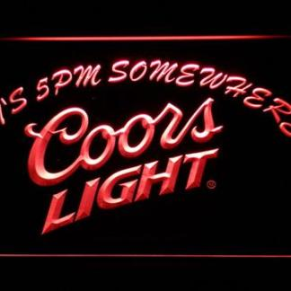 Coors Light It's 5pm Somewhere neon sign LED