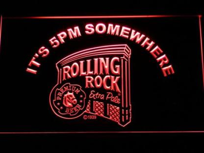 Rolling Rock It's 5pm Somewhere neon sign LED