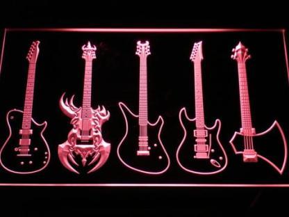 Guitars Classic to Custom neon sign LED