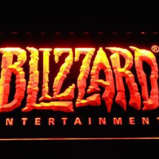 Blizzard Entertainment neon sign LED