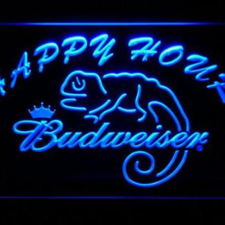 Budweiser Lizard Happy Hour neon sign LED