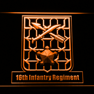 US Army 16th Infantry Regiment neon sign LED