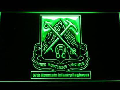 US Army 87th Mountain Infantry Regiment neon sign LED