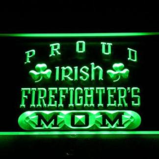 Irish Fire Fighter's Mom neon sign LED