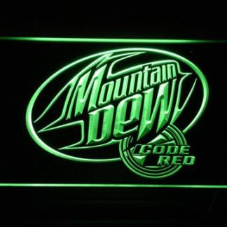 Mountain Dew Code Red neon sign LED
