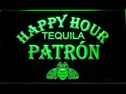 Patron Happy Hour neon sign LED