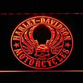 Harley Davidson Skull with Wings neon sign LED
