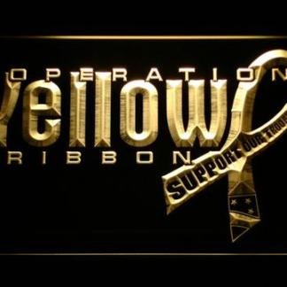 Yellow Ribbon Support Our Troops neon sign LED
