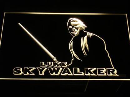 Star Wars Luke Skywalker neon sign LED